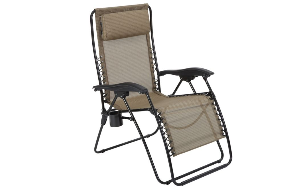 The Home Depot XL Zero Gravity Chair With Cupholder