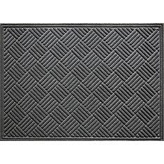 Contours Grey 3 ft. x 4 ft.  Indoor/Outdoor Rectangular Door Mat