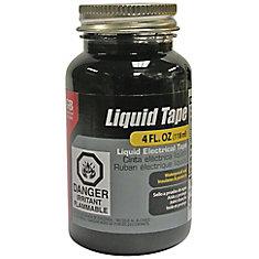 Liquid Electrical Tape, Waterproof Seal, All Indoor/Outdoor Uses, Includes Brush, Black, 4oz, 1/Jar