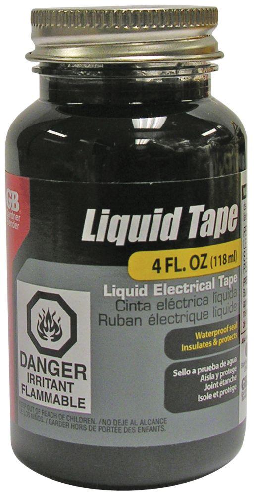 Gardner Bender Liquid Electrical Tape, Waterproof Seal, All Indoor/Outdoor Uses, Includes Brush, Black, 4oz, 1/Jar