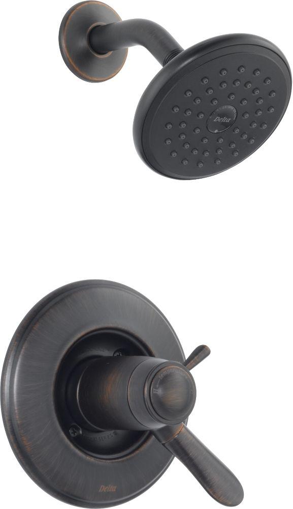 Lahara - Garniture seulement, mitigeur thermostatique de douche, Venetian Bronze