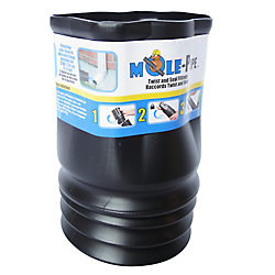MOLE-Pipe Twist And Seal 2x3 Downspout Adapter
