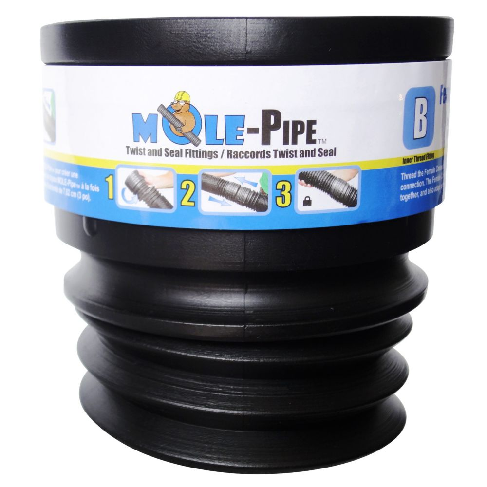 MOLE-Pipe Twist And Seal Female Connector