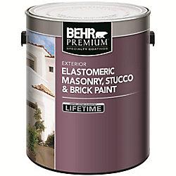 BEHR BEHR Peinture élastomère pour maçonnerie, stuc et brique - Base foncée, 3,43 L
