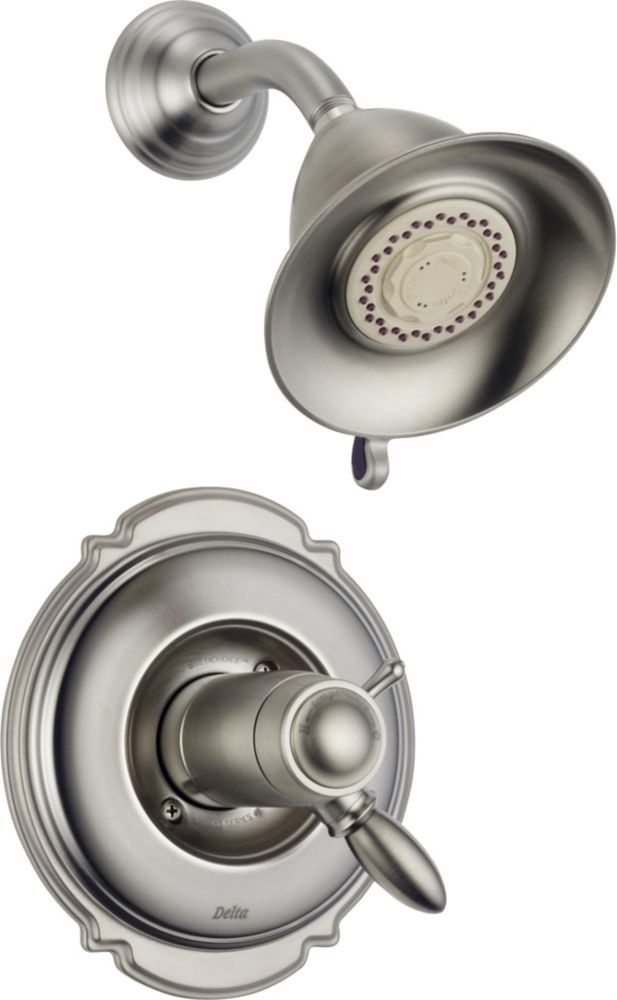Victorian Single-Handle Thermostatic Shower Faucet in Stainless Steel
