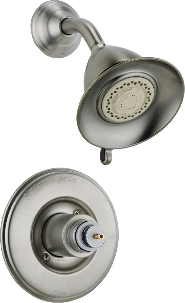 Victorian Single-Handle 3-Function Shower Faucet in Stainless Steel