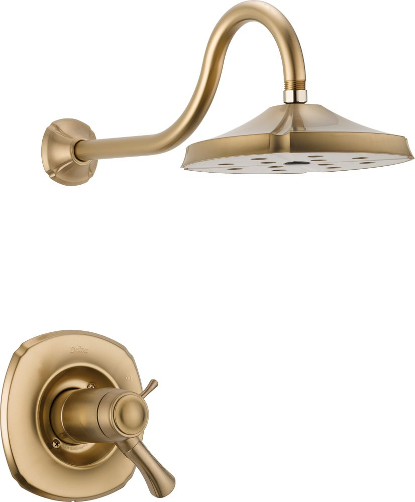 Addison Single-Handle Thermostatic Shower Faucet and Faucet with H2Okinetic in Champagne Bronze
