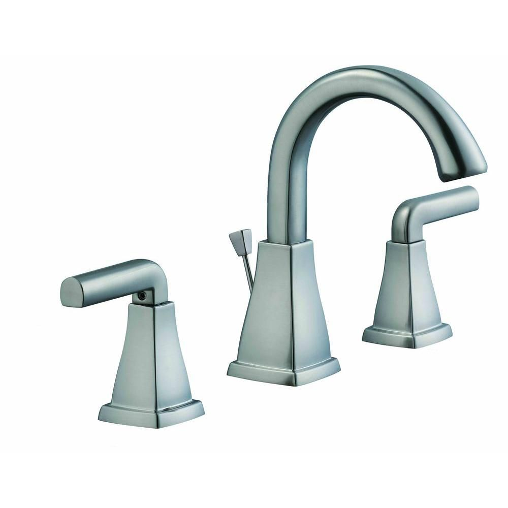 12,000 Series 8 Inch Widespread Lavatory Faucet In Brushed Nickel
