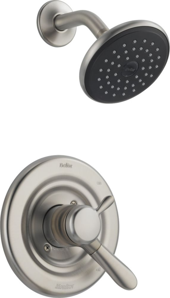 Lahara Single-Handle Single-Function Shower Faucet with Raincan Showerhead in Stainless Steel