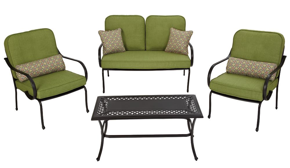 Anthracite Etna Conversation Set With Grey Cushions Bcf 75 In Canada