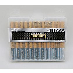 Defiant Alkaline AAA Battery (48-pack)