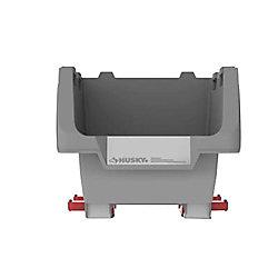 HUSKY 12-inch Stackable Click Bin in Grey