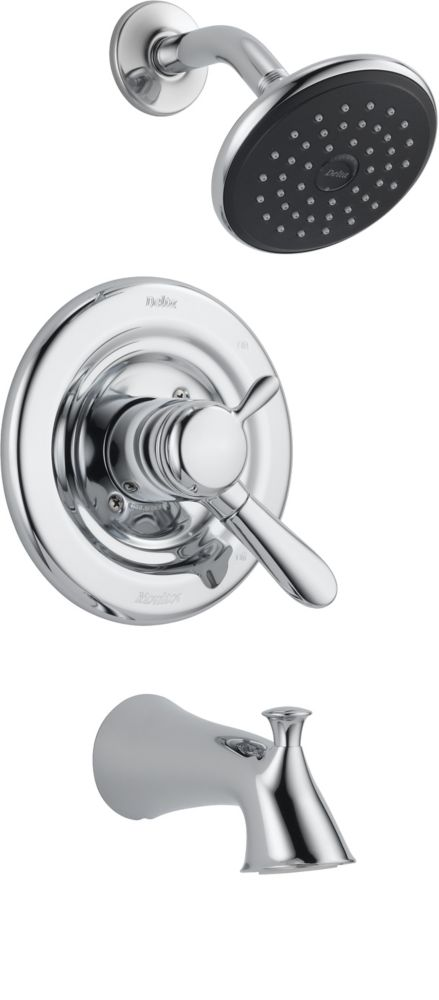 Lahara - Garniture seulement pour robinet de douche et baignoire, Chrome