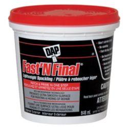 DAP FAST N FINAL Lightweight Spackling - Off White - 946 ml