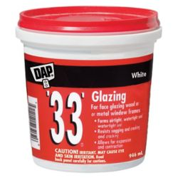 DAP 33 Window Glazing  White  946 ml