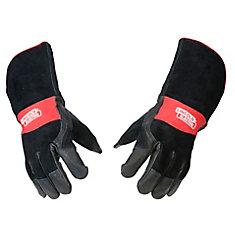 Premium Leather Mig Stick Welding Gloves - Medium