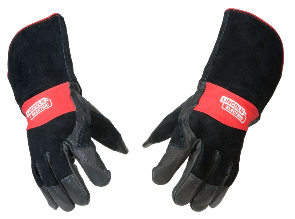 Lincoln Electric Premium Leather Mig Stick Welding Gloves - Medium