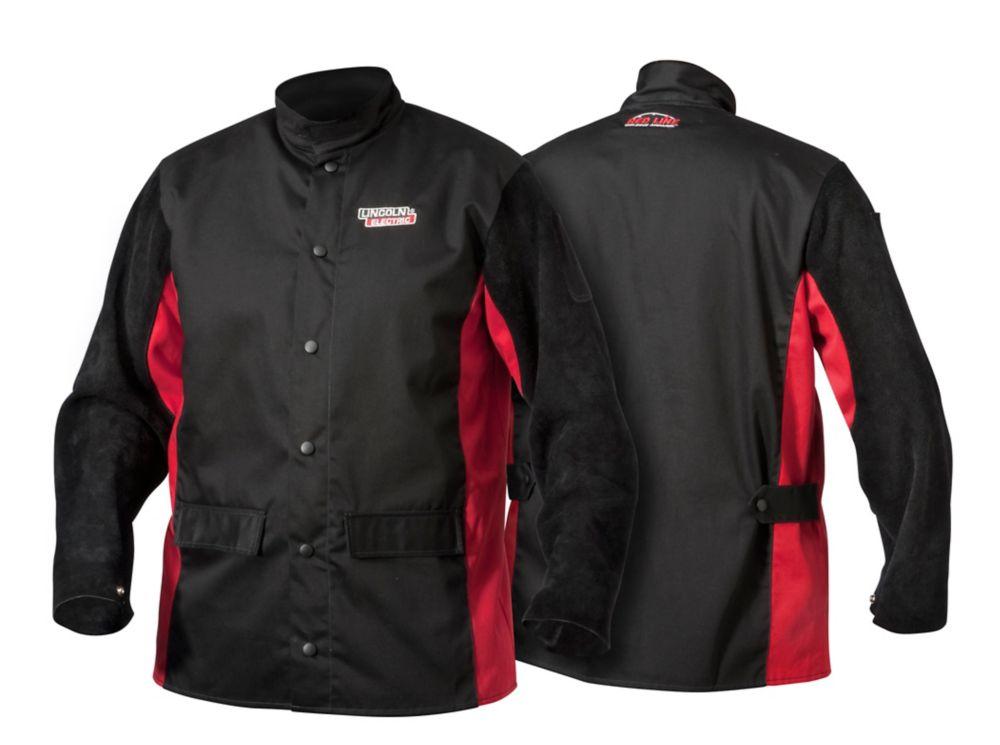 Shadow Split Leather Sleeved Jacket - Large