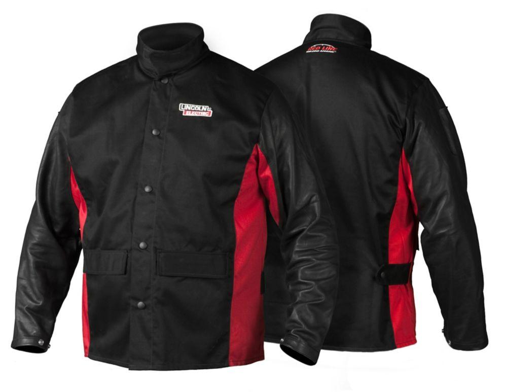 Shadow Grain Leather Sleeved Jacket - XL