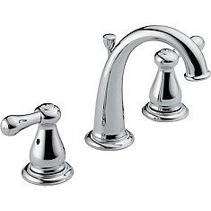 Leland 4-inch Widespread 2-Handle High-Arc Bathroom Faucet in Chrome Finish