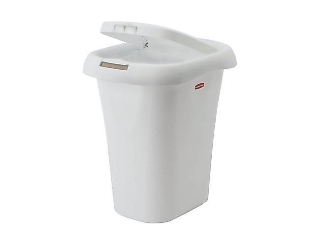 Liner Lock Spring Top Wastebasket