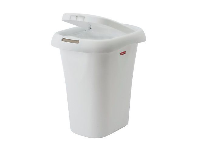 Liner Lock Spring Top Wastebasket