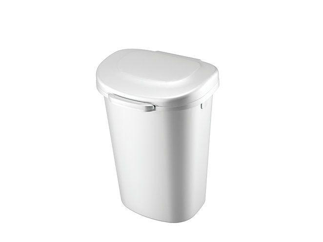 Touch Top Wastebasket White