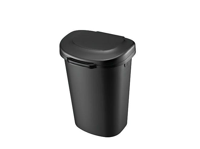 Touch Top Wastebasket Black