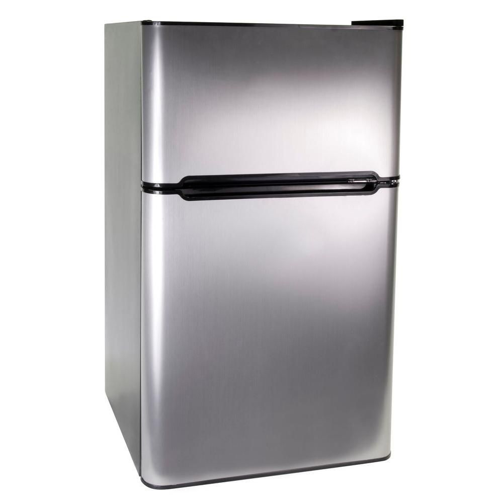 3.3 cu. ft. Two Door Refrigerator with Freezer