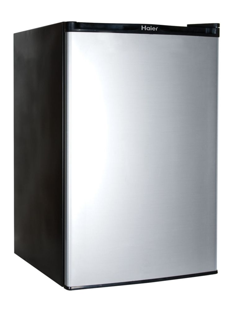 4.5 cu. ft. Compact Refrigerator with Half-Width Freezer in Black