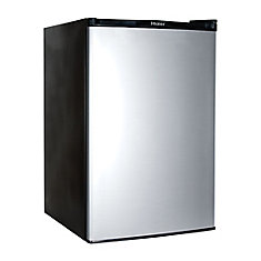 refrigerator at home depot. compact refrigerator with half-width freezer in black at home depot o
