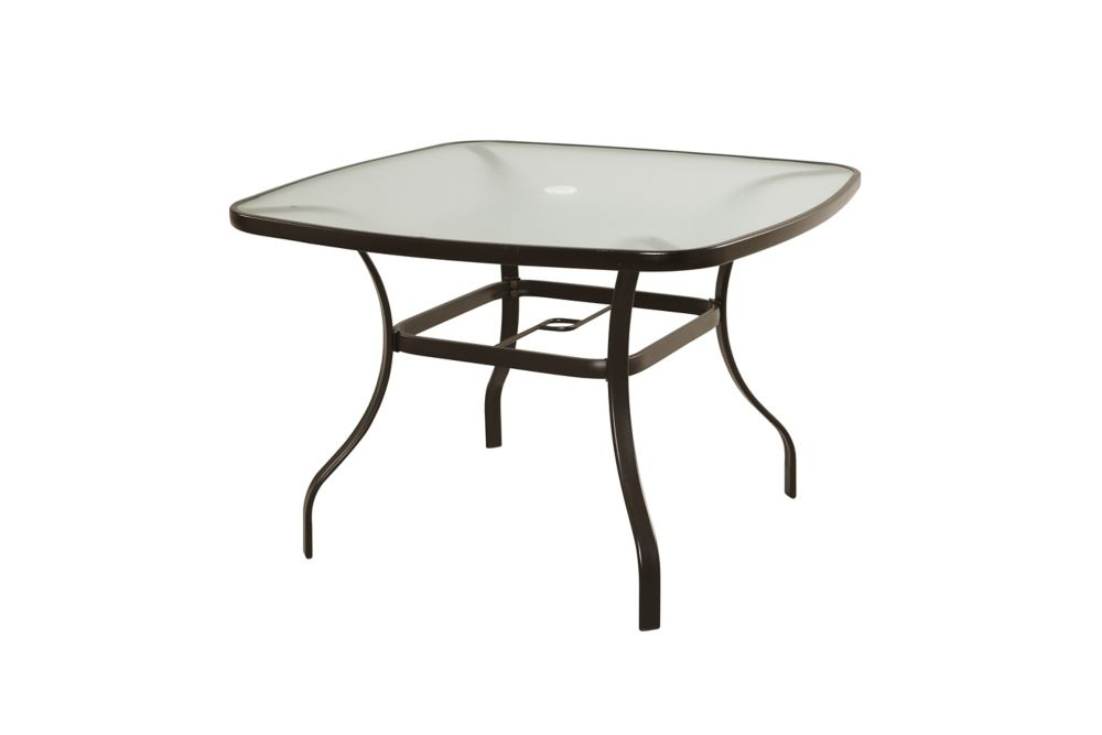 thd generic maple valley 42 inch x 42 inch steel square dining table the home depot canada. Black Bedroom Furniture Sets. Home Design Ideas