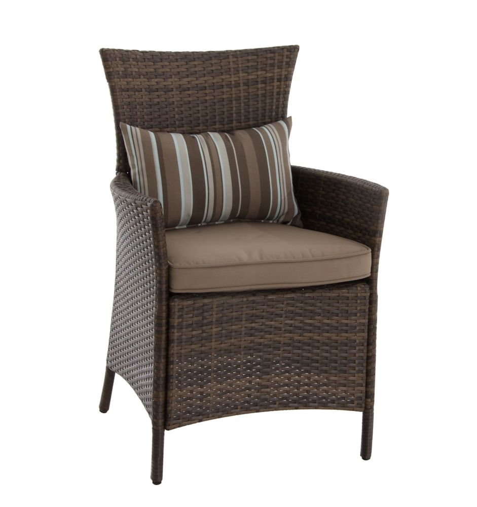 Hampton Bay Tacana Steel Woven Dining Chair With Seat Cushion 2 Pack The Home Depot Canada