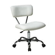 Vista Task Office Chair White Vinyl