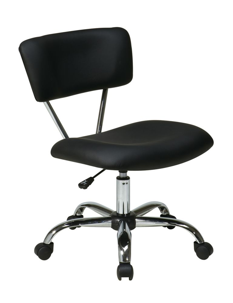 Vista Task Office Chair-Black Vinyl