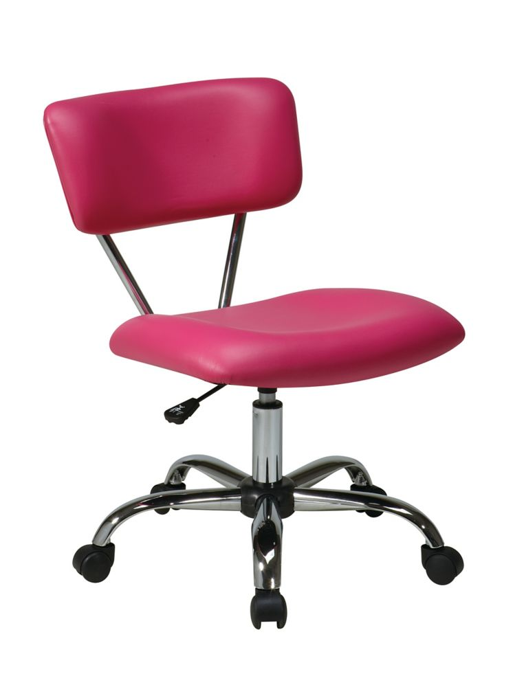 Vista Task Office Chair-Pink Vinyl