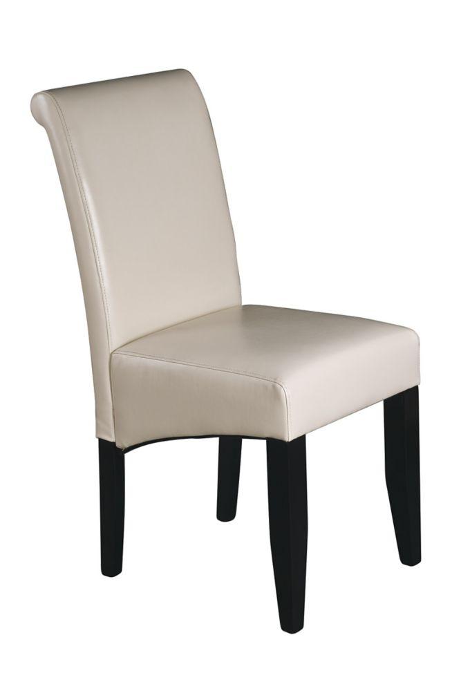 Crème Finish Parsons Chair
