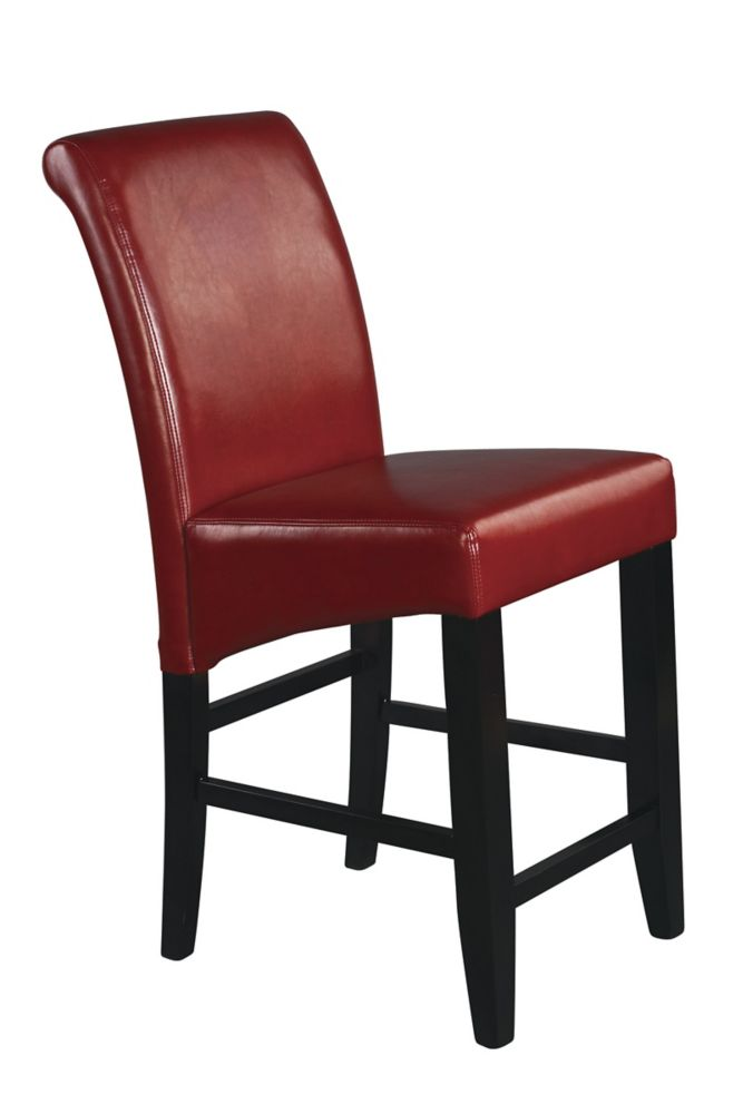 Red Finish 24 inches Parsons Barstool