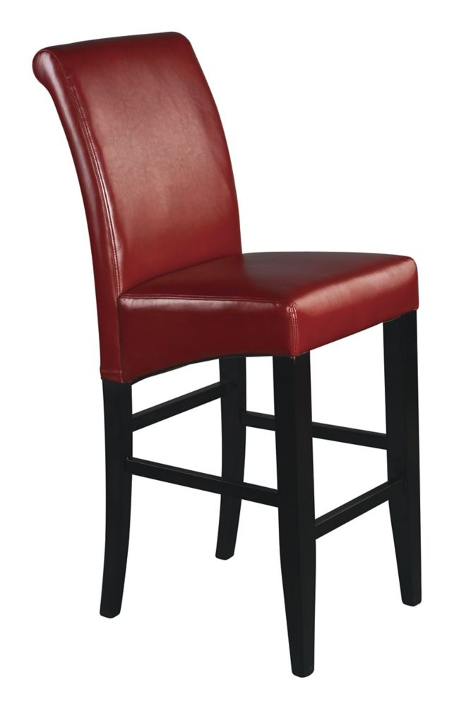 Red Finish 30 inches Parsons Barstool