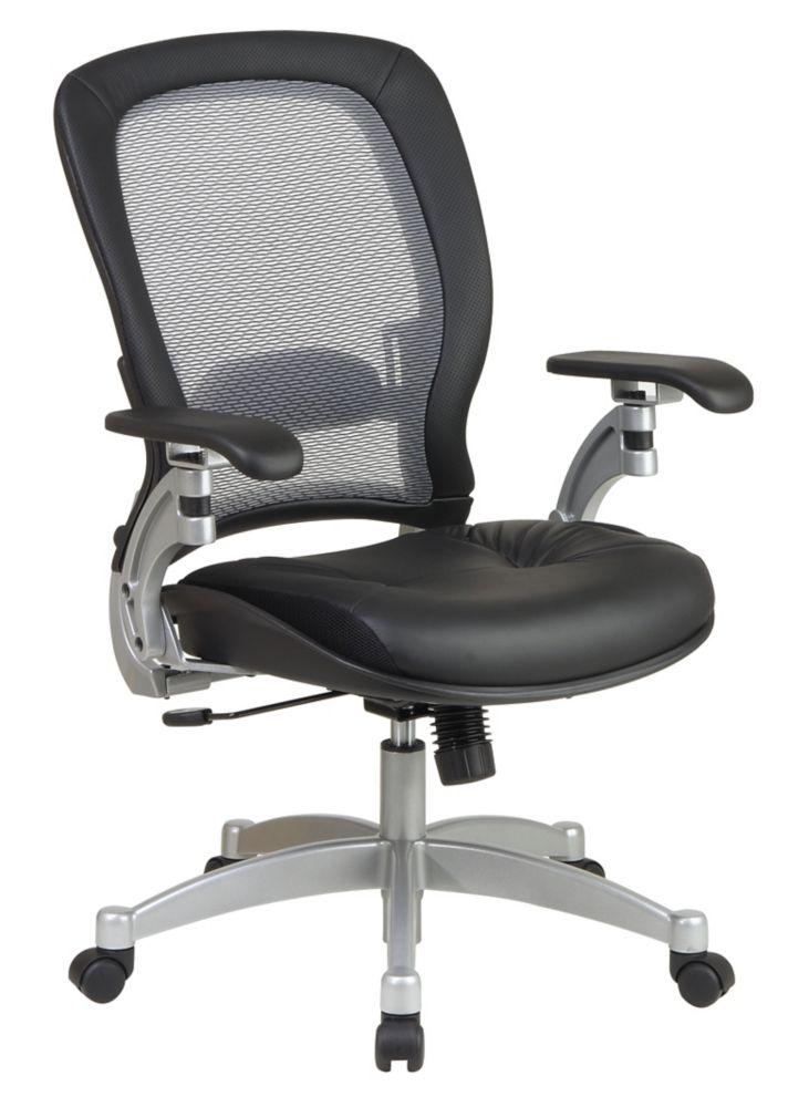 office star fauteuil professionnel profil mince avec dossier air grid siege en cuir home. Black Bedroom Furniture Sets. Home Design Ideas