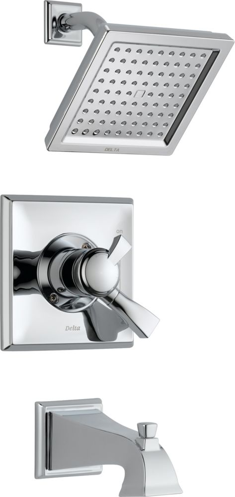 Dryden Single-Handle Single-Function Bath/Shower Faucet with Showerhead in Chrome