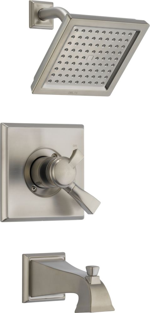 Dryden Single-Handle Single-Function Bath/Shower Faucet with Showerhead in Stainless Steel