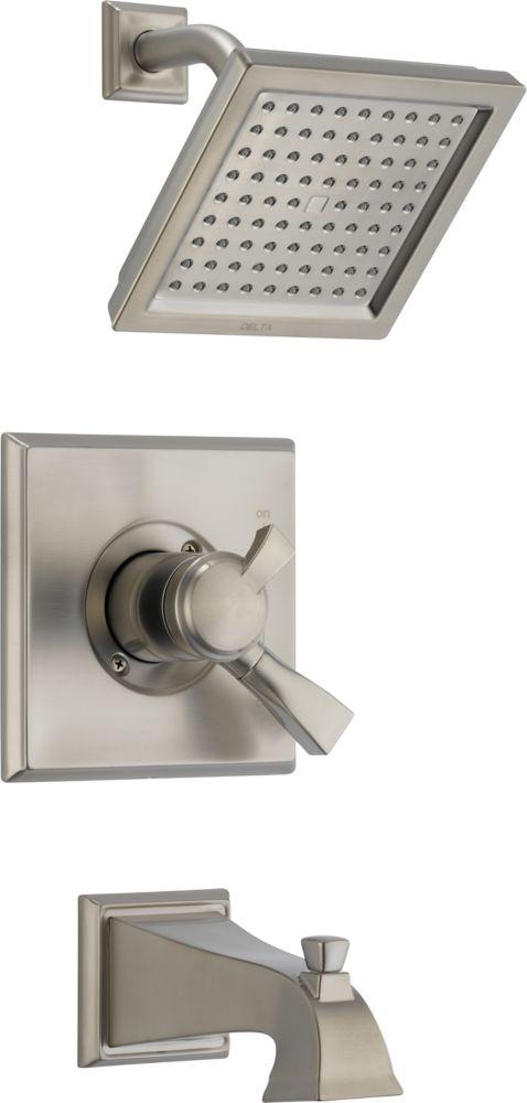 Dryden - Garniture pour mitigeur de douche et baignoire, 1jet, Inox