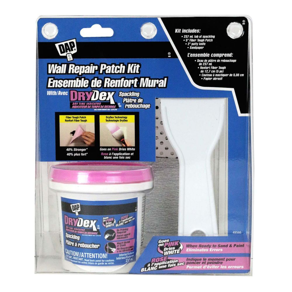 DAP Wall Repair Patch Kit - Featuring DRYDex Spackling