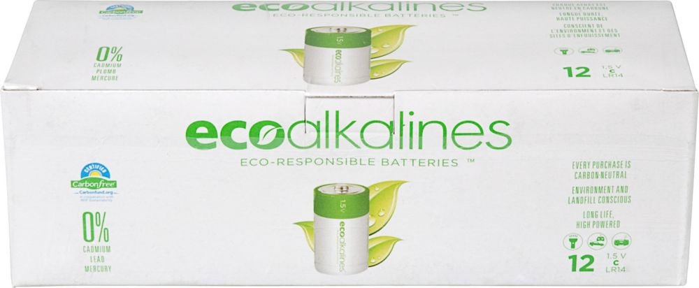 ECO Alkaline C Cell Bulk 12 Pack