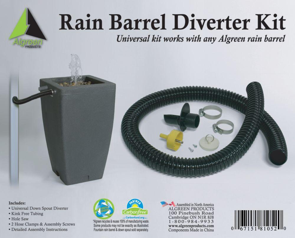 Lot de déviateur de descente pluviale Deluxe pour baril de pluie