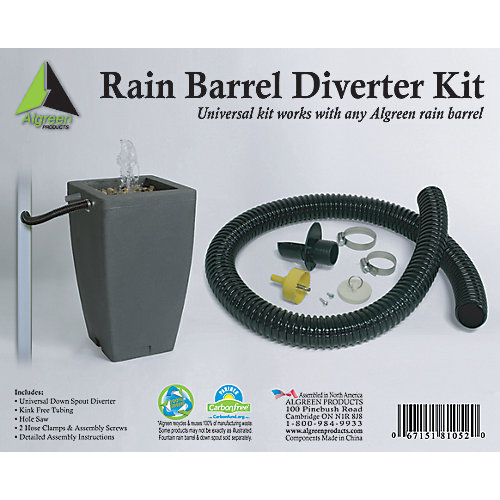 Deluxe Rain Barrel Downspout Diverter Kit