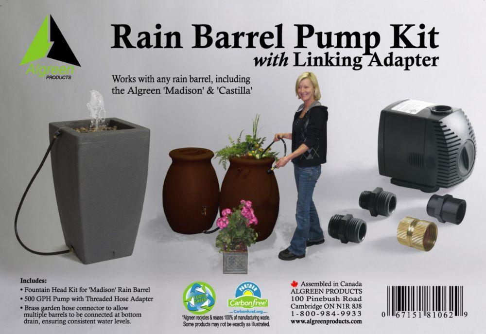 Lot de pompe pour baril de pluie