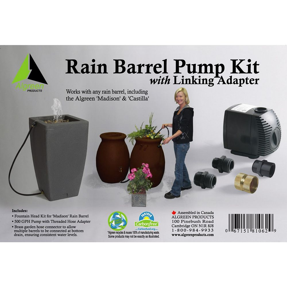 Algreen Products Rain Barrel Pump Kit