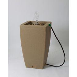 Algreen Products Madison 49 Gal. Decorative Fountain Rain Barrel in Sandstone